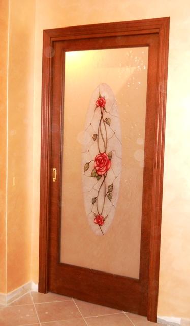 Falegnameriariccardi - Porte in legno con vetro decorato ...